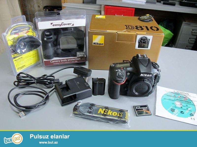 Xmas yenə burada !!!<br /> Promo! Promo !! Promo !!!<br /> <br /> <br /> Brand Nikon<br /> Model D810<br /> MPN 1542<br /> <br /> Əsas Xüsusiyyətlər<br /> Camera növü Digital SLR<br /> Sensor Resolution 36...