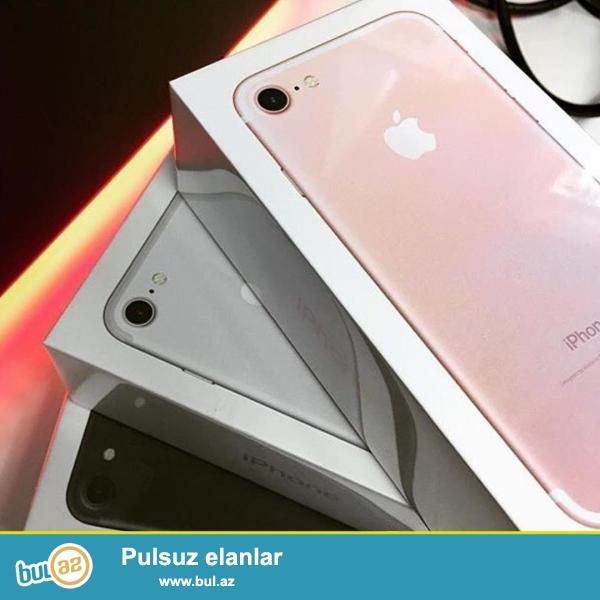Iphone 7 pakofkada satilir, her rengi var,  Dubay variantidir, orginaldan heç bir ferqi yoxdur...