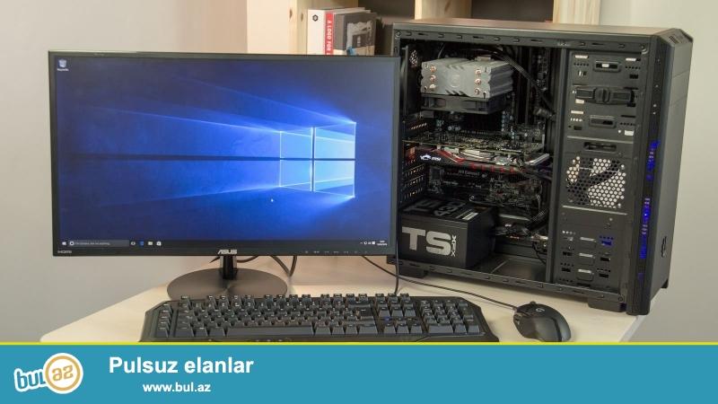 Intel(R) Core(TM) i5-3340 CPU @ 3.10GH PC<br /> HDD 500 GB<br /> RAM 6 GB (32 GB qeder qalxir)<br /> Vega Nvida GTX 730 256 bit (Super Gamer)<br /> Manitor: LG Flatron 19<br /> Klav and mouse: Genius<br /> 2 eded Ses Guclendirici<br /> <br /> Kamputer sirf Iqravoy kamputerdi <br /> GTA V<br /> Call of Duty - Advanced Warfare<br /> FIFA 15/16<br /> PES 17 kimi oyunlar var en guclu oyun olan MAD MAX bele yoxlanlib problemsiz isleyib<br /> Elave olaraq Grafik proqramlari<br /> Adobe Illustrator<br /> Coral Draw<br /> 3D Max ve s kimi guclu grafik desteyi isteyen programlari yuklenilb ve islenib problemsizdi<br /> Ubuntu/Win 7/8/8...