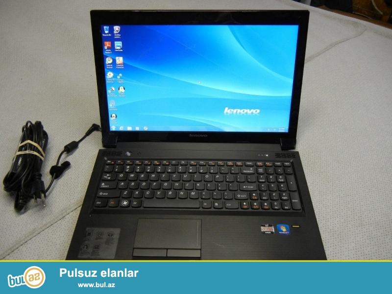 Lenovo-B575<br /> Pro:E1 <br /> Ram:2GB <br /> Vga:1GB <br /> Screen:15.6 <br /> Hdd:320GB <br /> Noutbuk qara rengdedir...