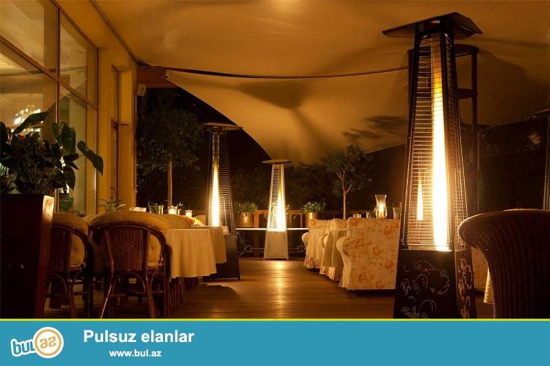 Məşhur İtaliya markası İtalkero açıq hava kamin modelləri ilə Restoran, Kafe, Otel və s...