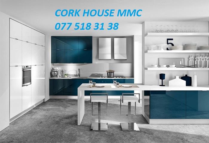 Her zovqe uygun keyfiyyetli ve davamli material,mexanizmlerden metbex mebellerinin sifarisle hazirlanmasi Cork House MMC firmasinda...