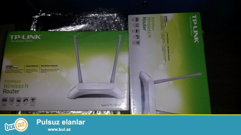 TP-LINK TL-WR840N 300Mbps Wireless N Cable Router. Yenidi istifade olunmayib. 2 Antenalidi...
