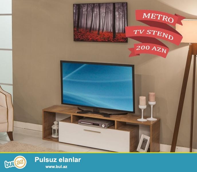 """Türkiyə istehsalı yüksək keyfiyyətli """"METRO"""" TV stend 6 aylıq faizsiz kreditlə 200 AZN..."""