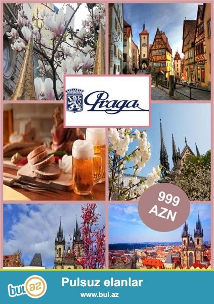 Уважаемые туристы!<br /> R&R Travel Company представляет к Вашим услугам <br /> тур в Прагу! Стоимость тура 999 AZN Спешите!!<br /> Включено в стоимость тура:<br /> -Перелет <br /> -Трансфер (аэропорт-отель-аэропорт);<br /> -Проживание в отеле, питание завтрак...