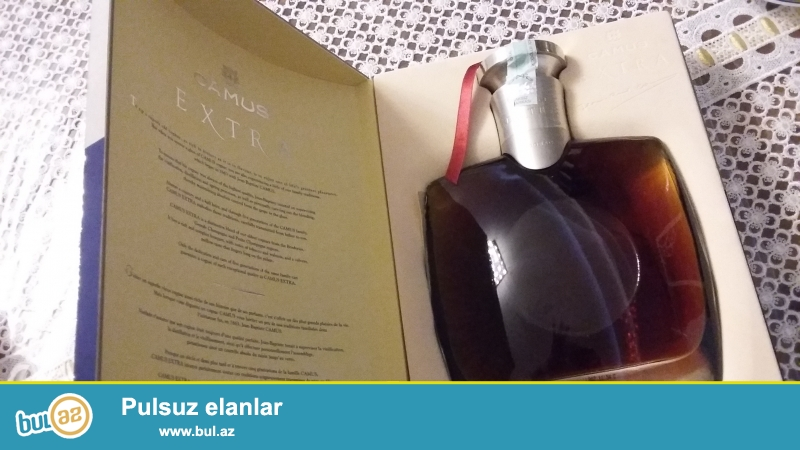 Camus extra 0.7l konyakı satılır.bakıda alınıb. aksiz markası üstündədir. qutusu da var.