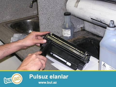 Printerlerin temiri ve kartriclerin doldurulmasi. ucuz ve keyfiyyetli xidemt yerinde ve ofisde...