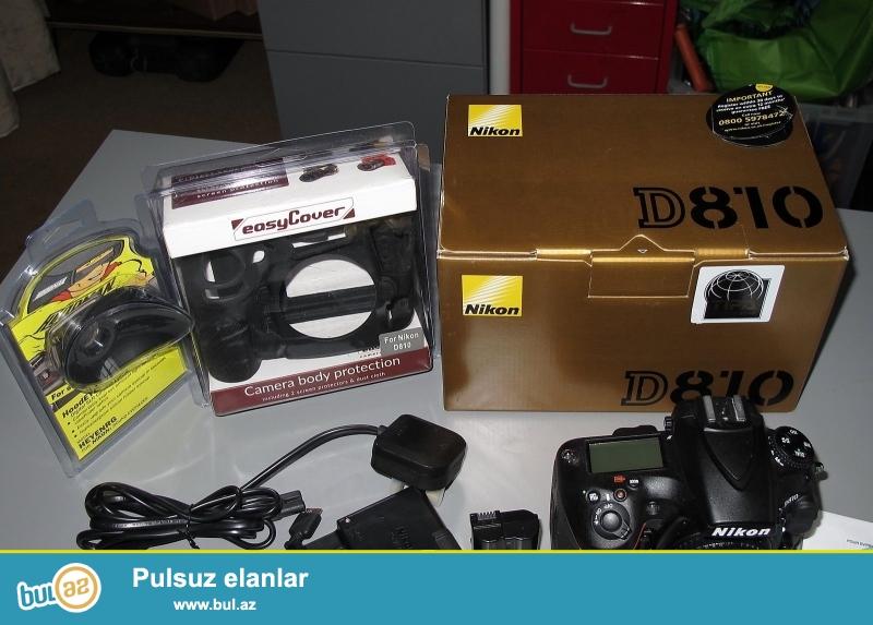 2 pulsuz 1 almaq almaq<br /> <br /> <br /> <br /> Brand Nikon<br /> Model D810<br /> MPN 1542<br /> <br /> Əsas Xüsusiyyətlər<br /> Camera növü Digital SLR<br /> Sensor Resolution 36...