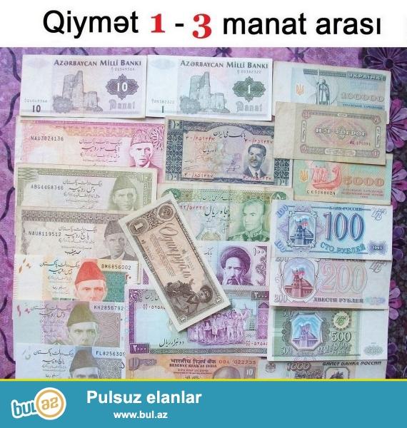 Azerbaycan Respublikasinin, SSRI-nin ve bircox muxtelif dovletlerin pul eskinaslarini satiram...