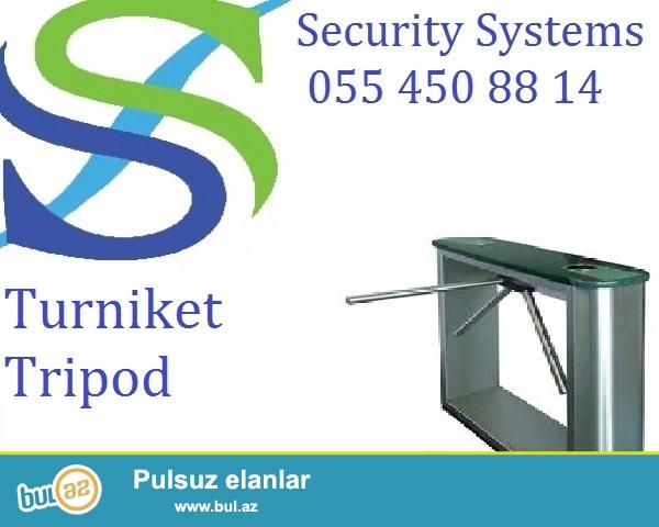Turniket / Guvenlik sistemleri  0554508814<br />  <br /> Guvenlik sistemlerinden olan turniket insan axinin cox oldugu eraziler ucun nezerde tutlmusdur...