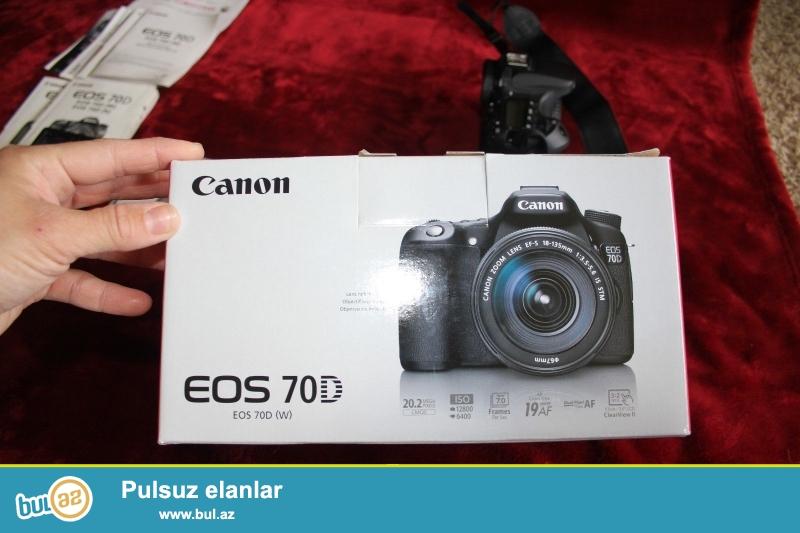 2 pulsuz 1 almaq almaq<br /> <br /> <br /> Canon EOS 70D Digital Camera bədən<br /> LP-E6 oluna Lithium-Ion Battery Pack (7...