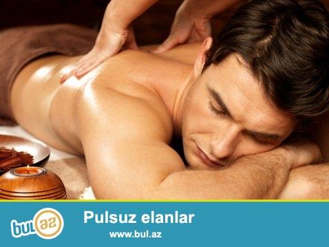 Ev seraitinde massaj xidmeti teklif edirem. <br /> Umumi beden massaji, mualicevi massaj,<br /> Yagla, dermanla, sabunla massaj,<br /> Rahatlasdirici massaj,<br /> Cimmeye cox temiz ve seliqeli seraitim var.
