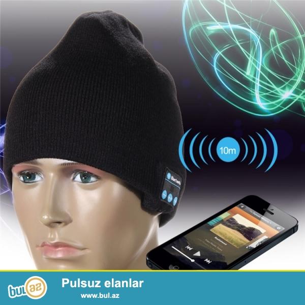 Yeni.Çatdırılma pulsuz<br /> Blutuz stereo Qış Papağı(Telefonunuzdakı və...