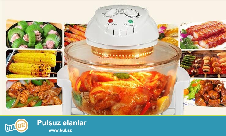 GEEPAS Brendinin Turbo Halogen Oven dəsti satılır! Yenidir! Artıq bir dənə qalıb, pakofkadan açılmayıb! <br />