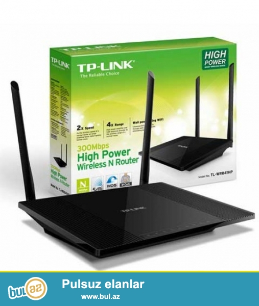 Tp-Link,  TL-WR740N<br />  Wireless 1x5 dbi antenn, 150 Mbit/c<br /> 4 lan Port.   (40 azn...