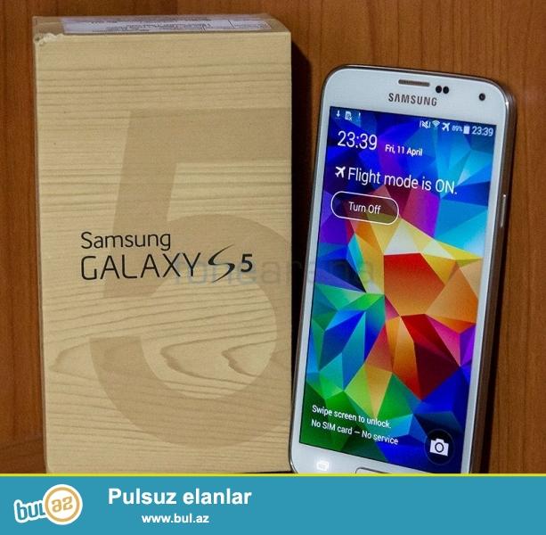 Samsung s5..ela vezyetdedir.bartede elemek olar iphone 6 veya 6s...