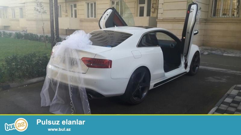 Gelin maşını.Audi s5 sport edition.Bakı daxilinde kiraye verilir...