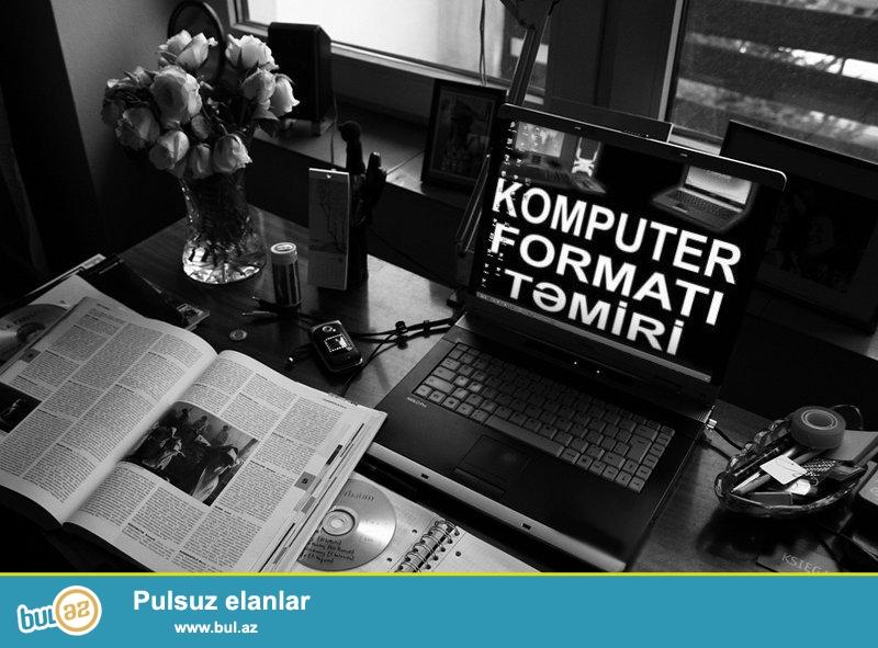 Butun Nov Kompyuterlerin Temiri ve Format olunmasi<br /> Noutbuk ekranlarinin deyisdirilmesi ve guclendirilmesi<br /> Windows sistemlerinin yazilmasi Proqram ve Antivirus xidmetleri gosterilir.
