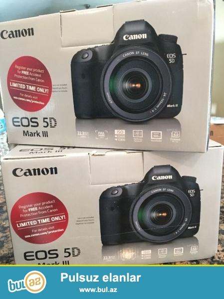 Canon EOS 5D Mark III 22.3 MP Digital SLR Camera.<br /> <br /> istifadəçi kitabçası:<br /> <br /> Brand Canon<br /> Model 5D Mark III<br /> Əsas Xüsusiyyətlər<br /> Camera növü Digital SLR<br /> Sensor Resolution 22...