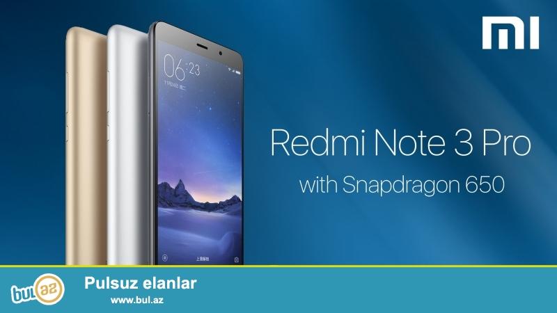 Xiaomi Redmi Note 3 PRO tecili satilir<br /> Snapdragon 615...