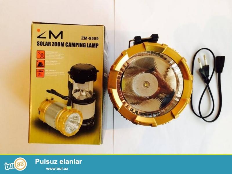 15 azn - Camping feneri 8-10 saat zaryadka saxlayir. hem camp feneri hemde adi feneri var ...