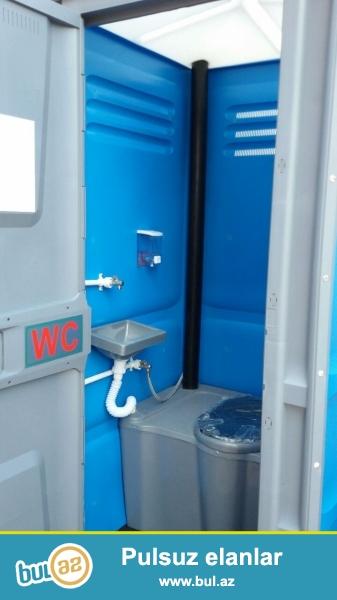 Mobil tualet 16eded isdifade olunmuyub.icerisinde sabun qabi salfetqa qabi el yumaq ucun yer...