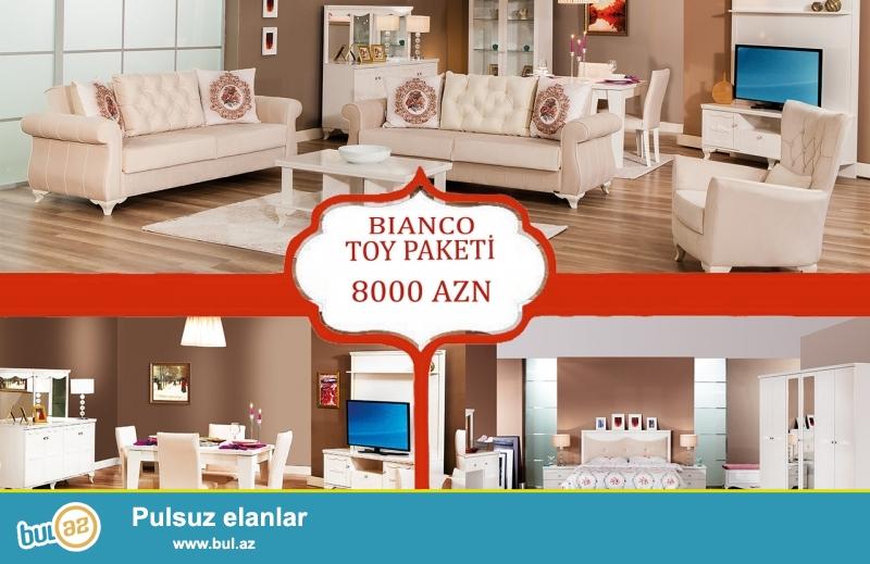 """Türkiyə istehsalı 3 dəstlik """"BIANCO"""" toy paketi 12 aylıq faizsiz kreditlə 8000 AZN..."""