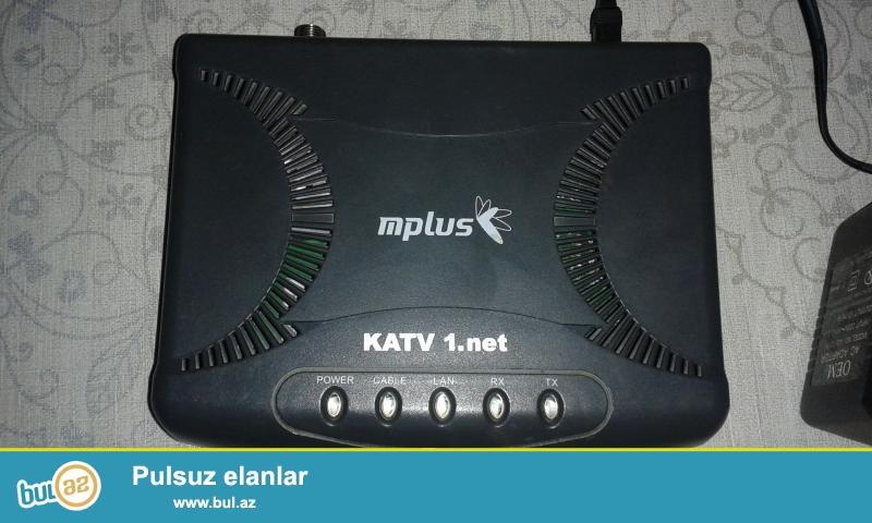 KATV - 1  Modemi  satiram - 20  manata  internete  qosulmaq  uchun  tezedir .