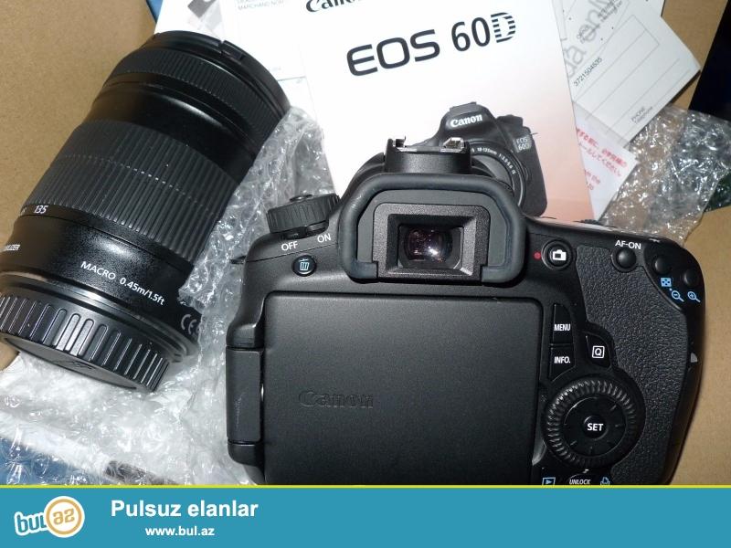 Canon EOS 60D 18.0 MP Digital SLR Camera.<br /> <br /> istifadəçi kitabçası:<br /> <br /> Brand Canon<br /> Model 60D<br /> Əsas Xüsusiyyətlər<br /> Camera növü Digital SLR<br /> Ekran ölçüsü 3...