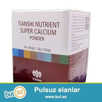 İribuynuzlu öxüzlərin sümüyündən hazırlanmış kalsium tozu vitamin və minerallarla zəngindir...