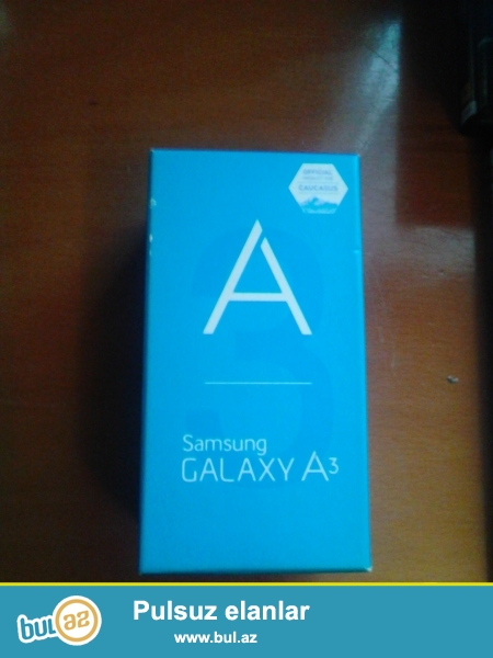 Samsung Galaxy A3 ucun bosh qutu satilir.Qiymet sondur