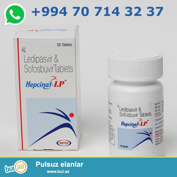 Tam original ve Holoqramli <br /> Sofosbuvir 400 mg<br /> Ledipasvir 90 mg