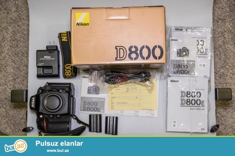 Nikon D800 36.3 MP Digital SLR Camera.<br /> <br /> istifadəçi kitabçası:<br /> <br /> Brand Nikon<br /> Model D800<br /> Əsas Xüsusiyyətlər<br /> Camera növü Digital SLR<br /> Optical Zoom 5x<br /> Sensor Resolution 36...