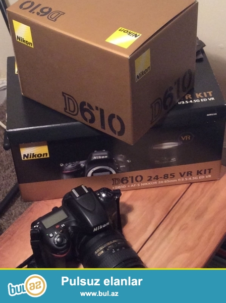 Original qutuları və təlimatlar ilə 24-85 Lens ilə Nikon D610...