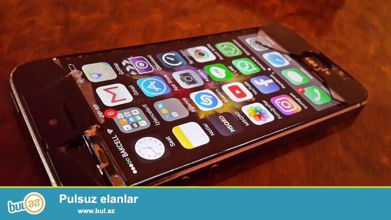 Ekran deyiwilmelidi orta knopka duwubdu, bawga bir problemi yoxdur her bir weyi iwlekdir, karobka adaptoru var, Barter 4s ag 32 64  ve android modeller Galaxy S4 xperia lg ve s, whatsappa tekliflerinizi yazin.