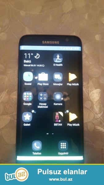 Samsung Galaxy S7 Edge. Az istifade olunub arxa qabag anti udarla istifade edilib...