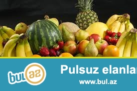 Turkiyeden her cur meyve, terevez birinci elden idxali uygun qiymetlerle.