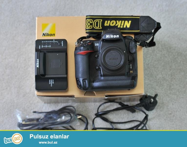 Nikon D D3 12.1MP Digital SLR Camera<br /> <br /> istifadəçi kitabçası:<br /> <br /> Brand Nikon<br /> Model D3<br /> Əsas Xüsusiyyətlər<br /> Camera növü Digital SLR<br /> Sensor Resolution 12...