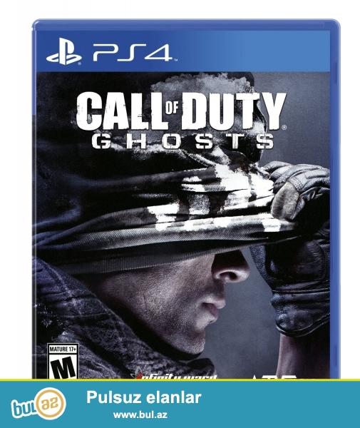 Ps 4 ucun Call Of Duty Ghost. Tezedir  ve orginaldir ciziqi bele yoxdu...