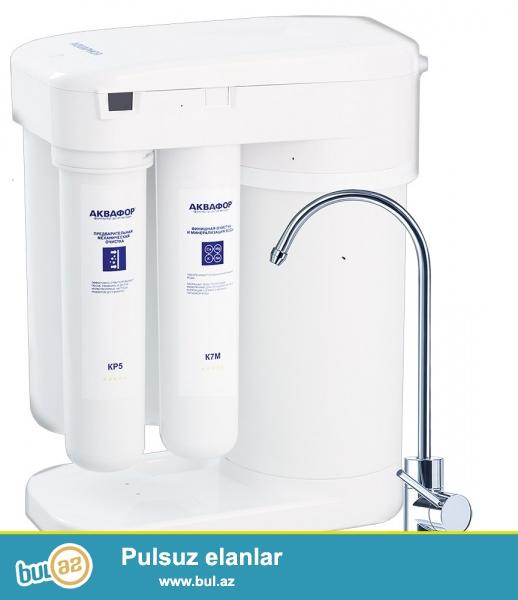 Aquaphor DWM 101S Morion əks osmos sistemli filteri mətbəxinizdə sizə 100 % təmizlənmiş su ilə təmin edir...