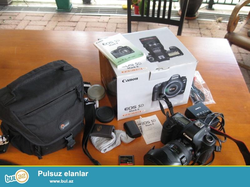 Canon EOS 5D Mark II 21.1 MP Digital SLR Camera.<br /> <br /> istifadəçi kitabçası:<br /> <br /> Brand Canon<br /> Model 5D Mark II<br /> Əsas Xüsusiyyətlər<br /> Camera növü Digital SLR<br /> Resolution 21...