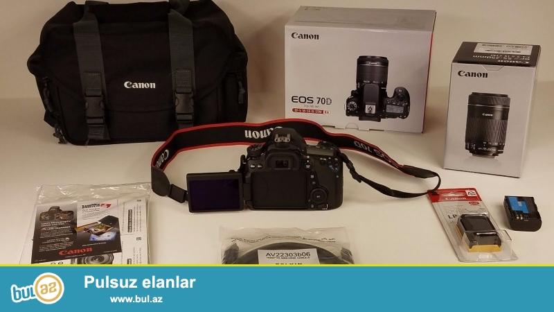 Canon EOS 70D 20.2 MP Digital SLR Camera.<br /> <br /> istifadəçi kitabçası:<br /> <br /> Brand Canon<br /> Model 70D<br /> Əsas Xüsusiyyətlər<br /> Camera növü Digital SLR<br /> Sensor Resolution 20...