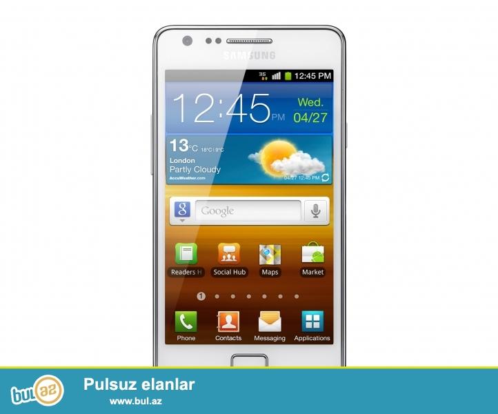 Samsung s 2 satiram yaxwi veziyyetdedir..her weyi var nauwnik adaptir kabro karobka