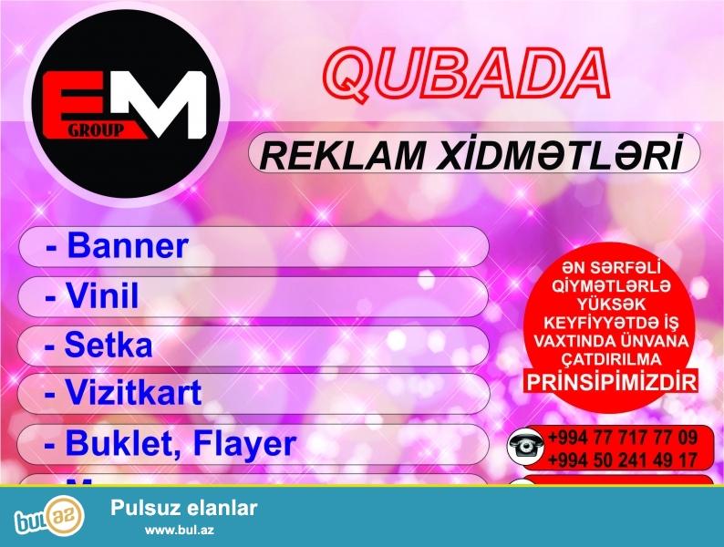 Quba, Qusar və Xaçmaz regionlarında reklam xidmətləri