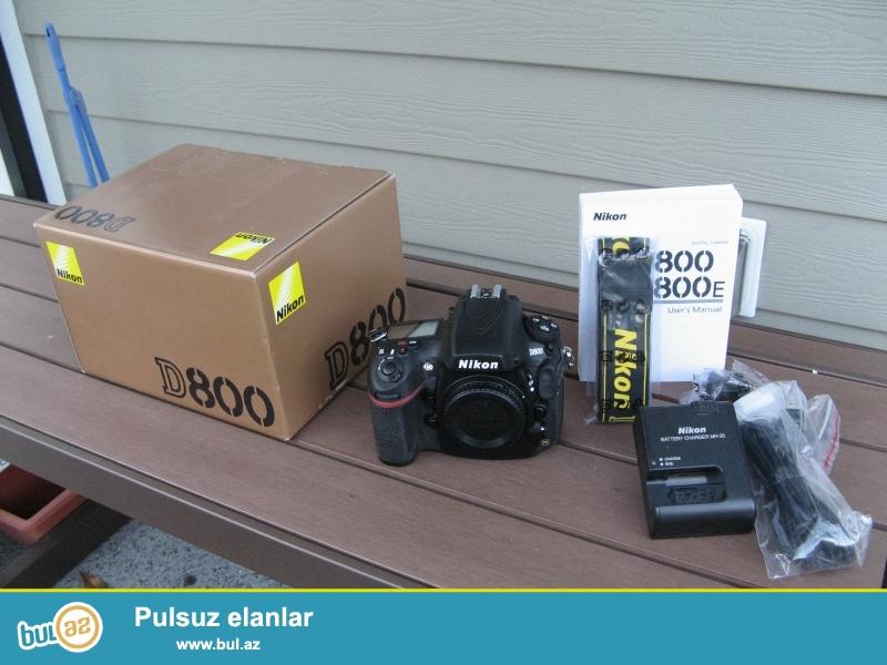 NIKON D800 36.3MP Digital SLR kamera.<br /> <br /> istifadəçi kitabçası:<br /> <br /> Brand Nikon<br /> Model D800<br /> Əsas Xüsusiyyətlər<br /> Camera növü Digital SLR<br /> Optical Sensor<br /> Sensor Tipi CMOS<br /> <br /> Daha ətraflı məlumat üçün bizimlə əlaqə saxlayın:<br /> <br /> Gmail: salesmarket27@gmail...