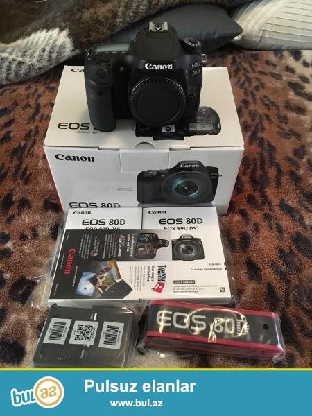 Canon EOS 80D 24.2 MP DSLR Camera.<br /> <br /> istifadəçi kitabçası:<br /> <br /> Brand Nikon<br /> Model 80D<br /> Əsas Xüsusiyyətlər<br /> Camera növü Digital SLR<br /> Optical Sensor<br /> Sensor Tipi CMOS<br /> <br /> Daha ətraflı məlumat üçün bizimlə əlaqə saxlayın:<br /> <br /> Gmail: salesmarket27@gmail...