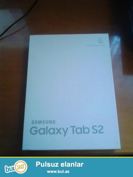 Samsung Galaxy Tab S2 qutusu satilir.Qiymet sondur