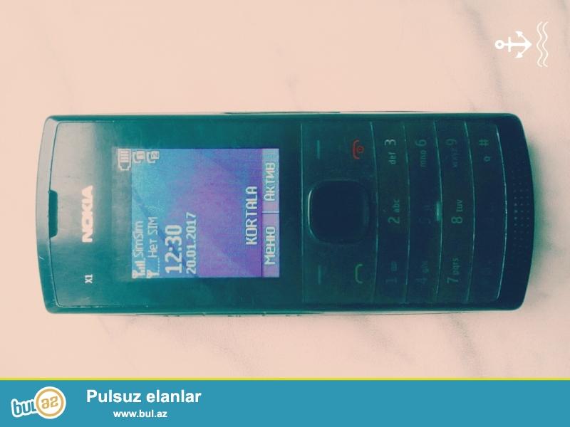 Nokia x1 model telefon tecili satilir hec bir problemi yoxdur biraz iwlenib