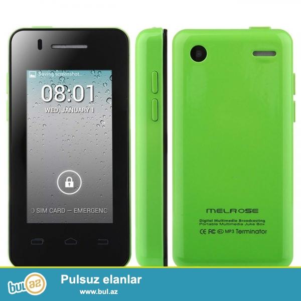 Yeni.çatdırılma pulsuz<br /> Dünyanın En balaca Android Smartfonu MELROZ S1 Duos Android 4...