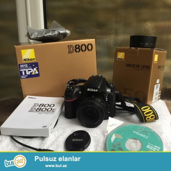 <br /> Brand Nikon<br /> Model D810<br /> MPN 1542<br /> <br /> Əsas Xüsusiyyətlər<br /> Camera növü Digital SLR<br /> Sensor Resolution 36...